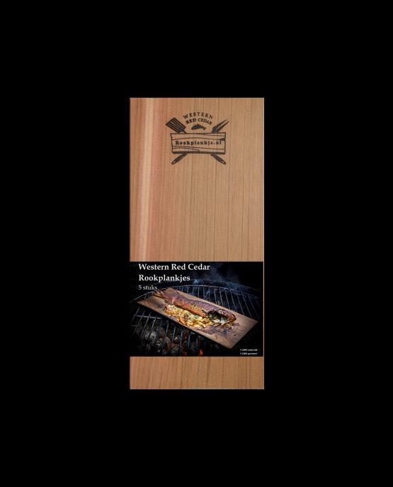 Rookplank Western Red Cedar x5 | Verpakking | Rookplankje.nl