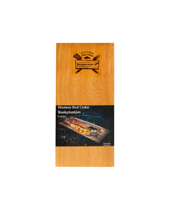 Rookplank Ceder x5 verpakt