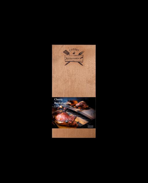 Productafbeelding verpakking | Rookplank Cherry 2 stuks | Rookplankje.nl
