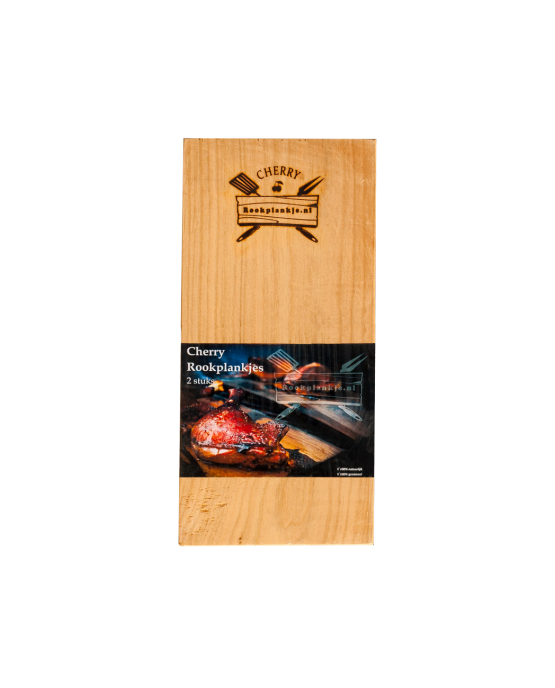 Rookplank Cherry x2 verpakt | Cherry wood grilling planks
