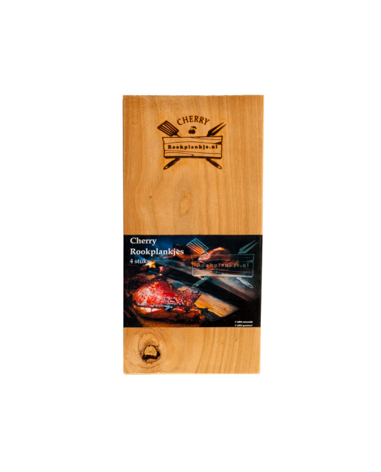 Rookplank Cherry x4 verpakt | Cherry wood grilling planks