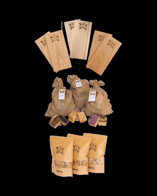 Productafbeelding | Combi-assortiment XXL | BBQ Kado-pakket | Rookplankje.nl
