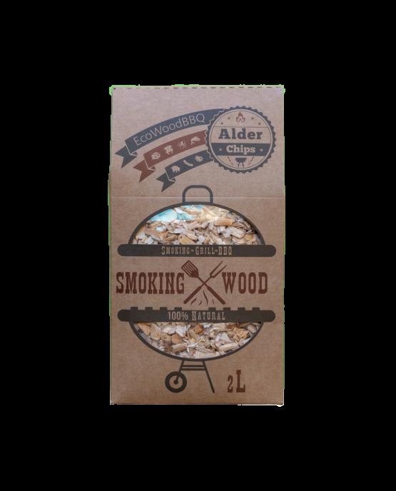 Alder Wood Chips EcoWoodBBQ   Rookplankje.nl
