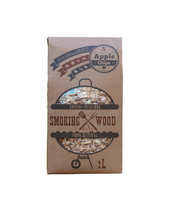 Apple Wood Chips EcoWoodBBQ | Rookplankje.nl