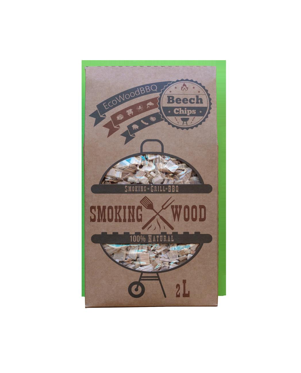Beech Wood Chips EcoWoodBBQ | Rookplankje.nl