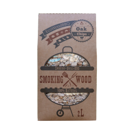 Oak Wood Chips EcoWoodBBQ | Rookplankje.nl