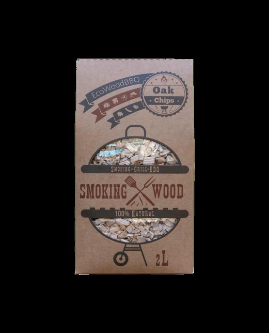 Oak Wood Chips EcoWoodBBQ | Rookplankje.nl