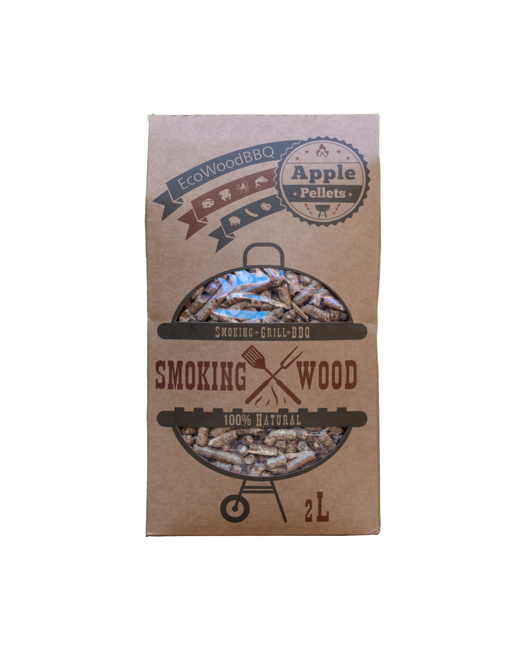 Apple Wood Pellets EcoWoodBBQ   Rookplankje.nl