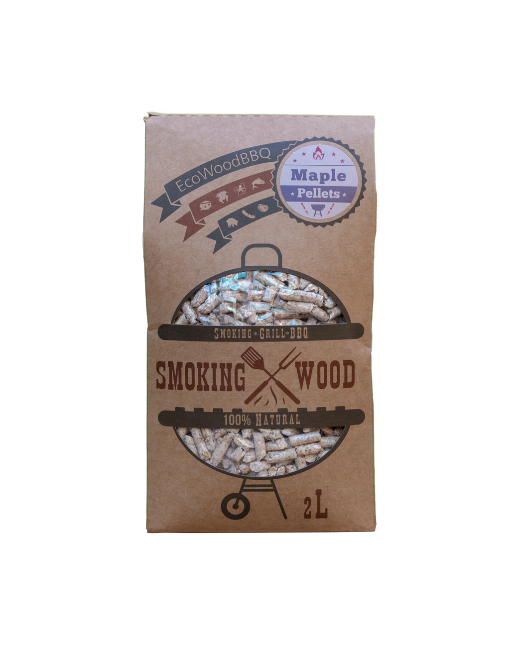Maple Wood Pellets EcoWoodBBQ | Rookplankje.nl