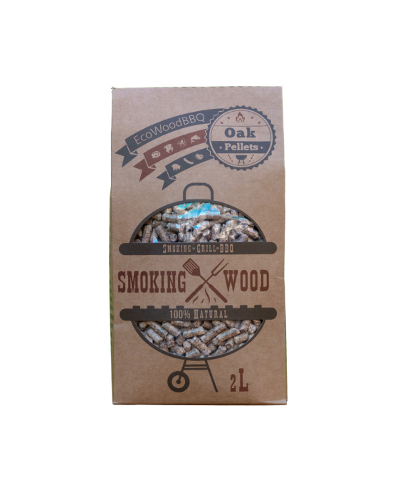 Oak Wood Pellets EcoWoodBBQ | Rookplankje.nl