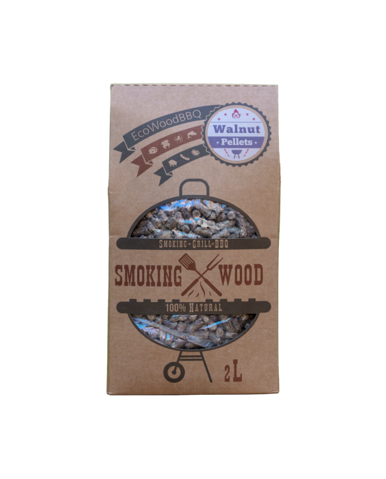 Walnut Wood Pellets EcoWoodBBQ | Rookplankje.nl