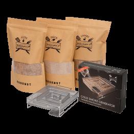 Productafbeelding | Rookmot Assortiment met Cold Smoke Generator van Rookplankje.nl