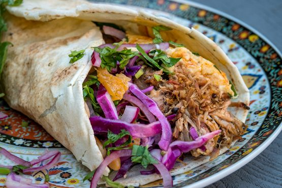 Pulled Lamb Wrap 'Marrocan Style'