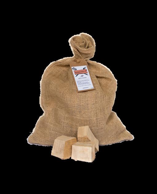 Productafbeelding | Beech Chunks | Rookplankje.nl | BBQ Rookhout | Beukenhout