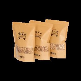 Productafbeelding | Chips Assortiment | Oak Beech Cherry | Rookplankje.nl