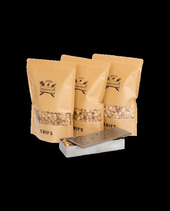 Productafbeelding | Chips Assortiment met smoker box | Rookplankje.nl