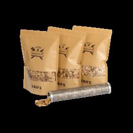 Productafbeelding | Chips Assortiment met tube smoker | Rookplankje.nl