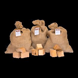 Productafbeelding | Chunks assortiment | Alder, Beech, Cherry | Rookplankje.nl | BBQ Rookhout