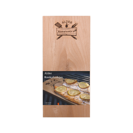 Productafbeelding | Rookplank Alder x2 | Rookplankje.nl | Verpakking | BBQ Rookhout