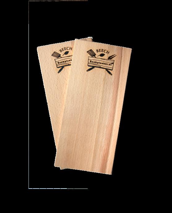 Productafbeelding | Rookplank Beech x2 | Rookplankje.nl | BBQ Rookhout