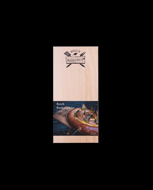 Productafbeelding | Rookplank Beech x2 | Rookplankje.nl | Verpakking | BBQ Rookhout