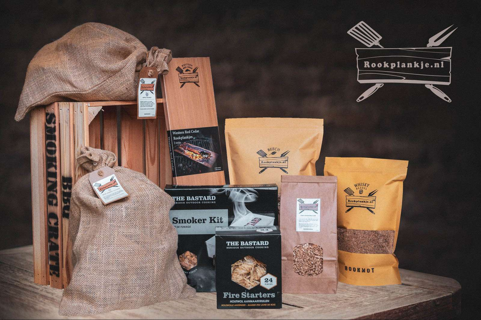 BBQ Smoking Crate A | Kado-assortiment | Rookplankje.nl
