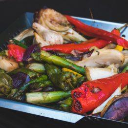 Productafbeelding | BBQ Grillmand RVS | Gegrilde groenten | Rookplankje.nl