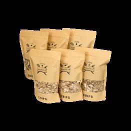 Productafbeelding | Chips Assortiment XXL | 6 zakken Rookchips