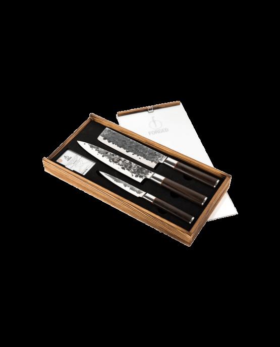 Productafbeelding Sebra Forged 3-delige messenset