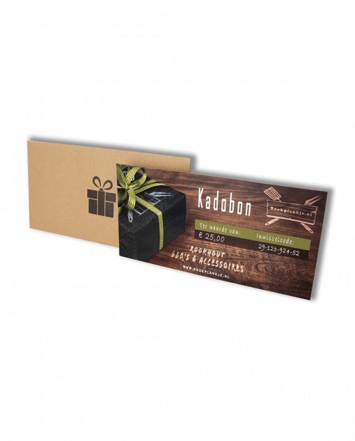 Productafbeelding | Fysieke kadobon | Rookplankje.nl