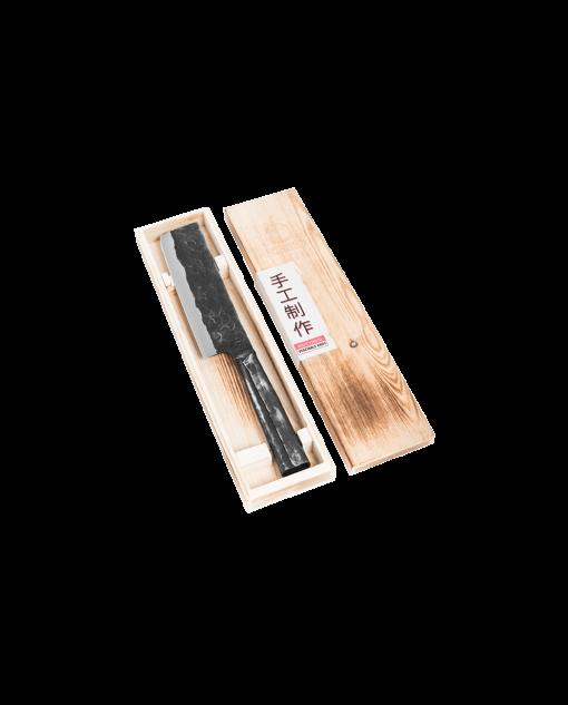 Productafbeelding   Brute Forged Hakbijl   Groentenmes in houten kistje