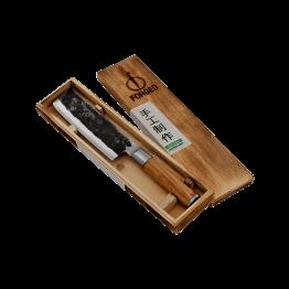 Productafbeelding | Olive Forged Hakbijl | Groentenmes in houten kistje